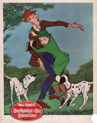 101 Dalmatians 1961 U.S. Scene Card