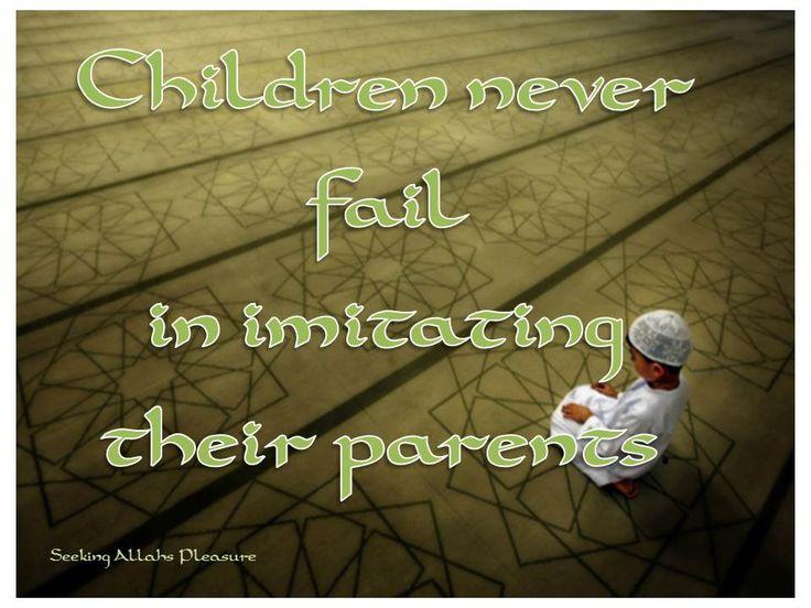 children imitate parents