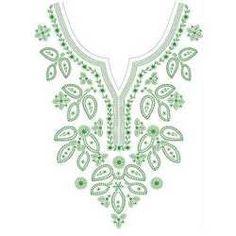 Resultado de imagen de hand embroidery designs for neck
