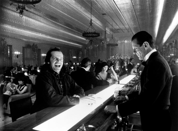 Would love to get a drink w/ Jack Nicholson Gold Room The Shining
