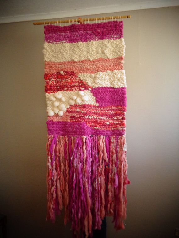 Pink Giant Wall Hanging by CrisalidaTextile on Etsy
