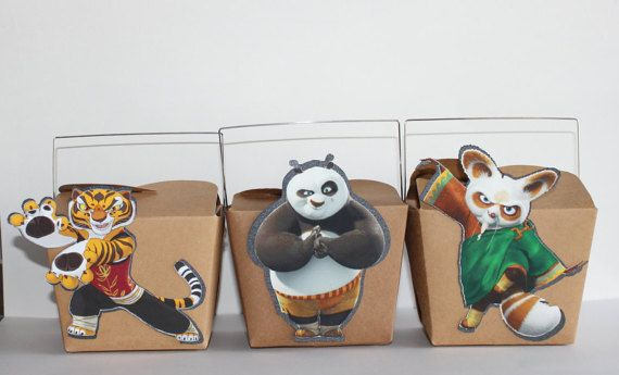 12 KUNG FU PANDA PARTY FAVOR BOXES OR BAGS You will receive A TOTAL OF 12 BOXES OR BAGS IF YOU ARE HAVING BOTH BOY AND GIRL GUESTS AT YOUR