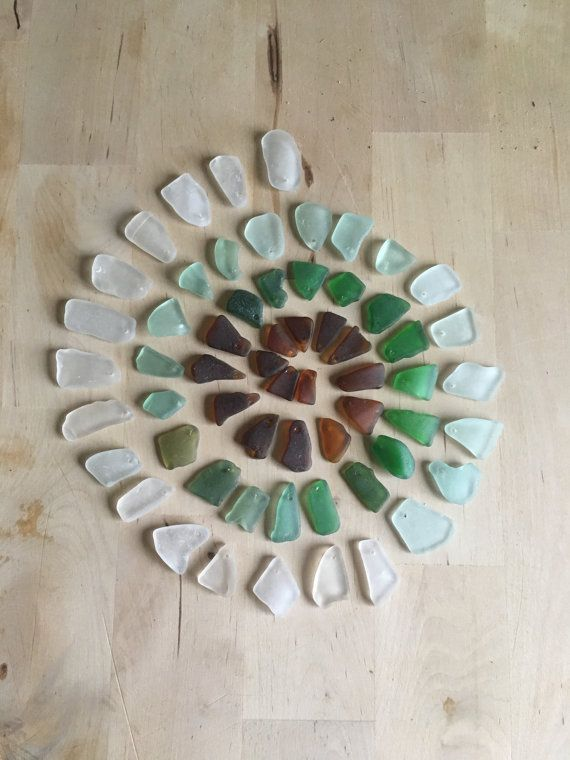 60x genuine sea glass pieces shades of brown by WashedupCrafts