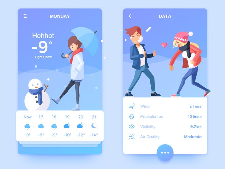 Weather APP and Illustration by Rounded Rectangle #Design Popular #Dribbble #shots