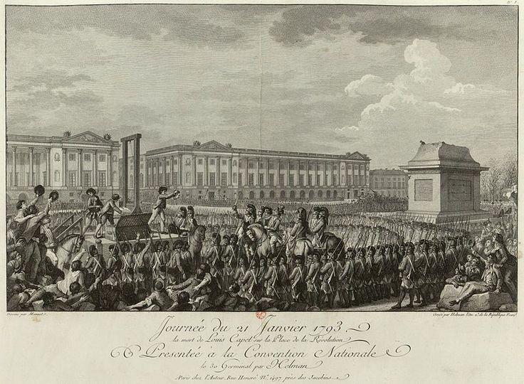 21 januari 1793 ♦ Koning Lodewijk XVI wordt in Parijs onthoofd.
