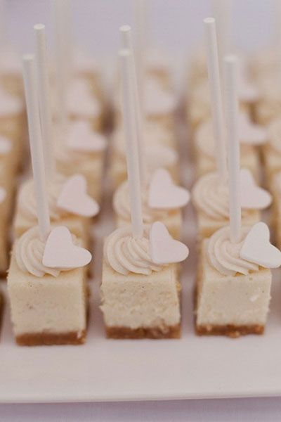 cheesecake bites...great bday party idea or for any girls tea with straws!