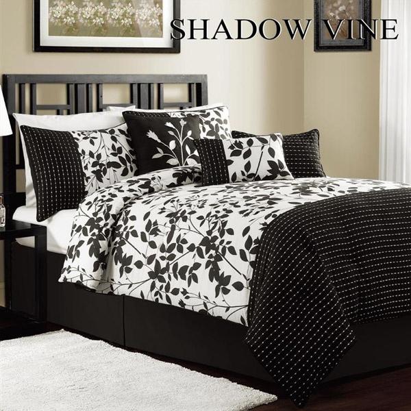 94 best black and white bedding images on pinterest bedrooms bathrooms decor and bedroom suites. Black Bedroom Furniture Sets. Home Design Ideas