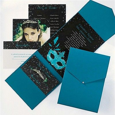 155 best Quinceaera Invitations Ideas images on Pinterest