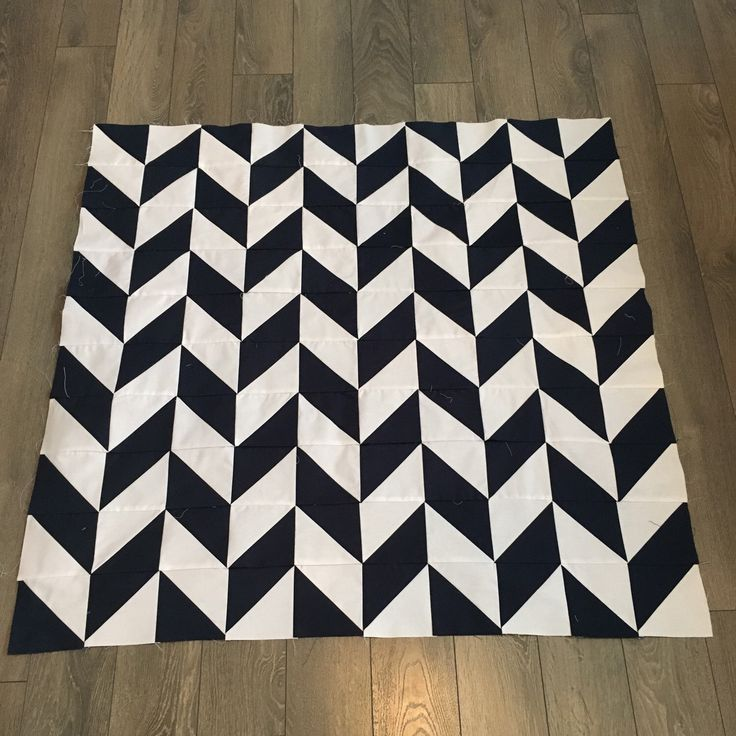 New addition to the shop. A classic navy and white herringbone quilt