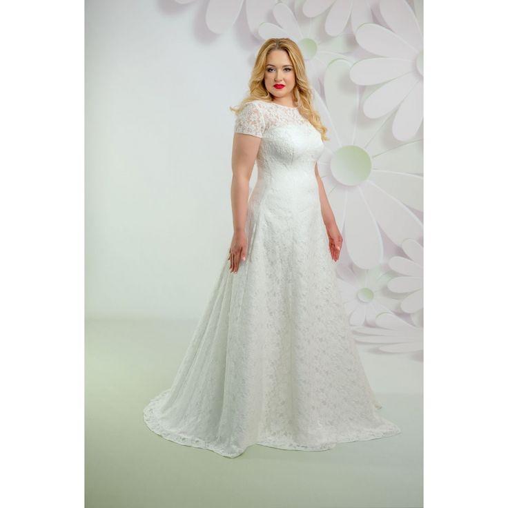 Celočipkované svadobné šaty pre moletky