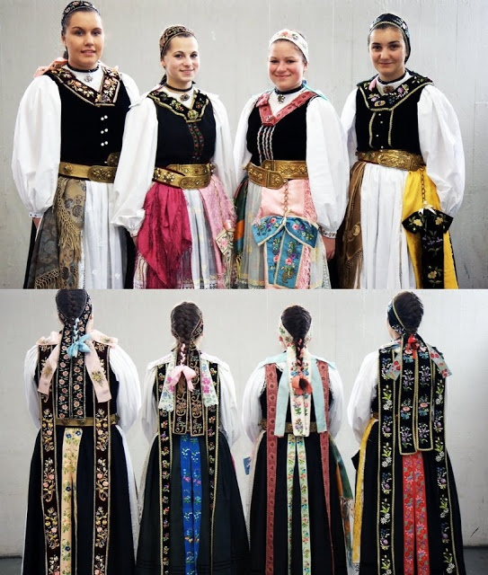 German traditional dress: from South Transylvania; pay attention to the headwear.