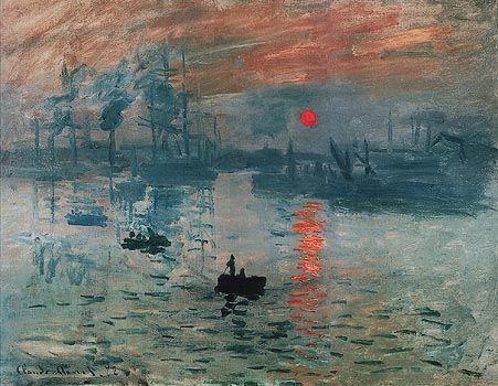 """Auguriamo una buona serata a tutti con questo meraviglioso dipinto di Claude Monet: """"Impression. Soleil levant""""."""