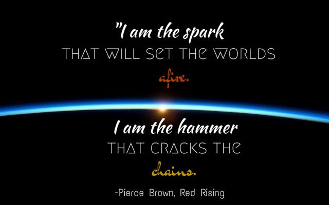 The Library Canary: Why Red Rising Is the Best Science Fiction Series I've Ever Read. Join me in my obsession over the Red Rising trilogy by Pierce Brown! I'm talking about why this is the best science fiction series I've ever read and you can also download a free desktop background made by yours truly!