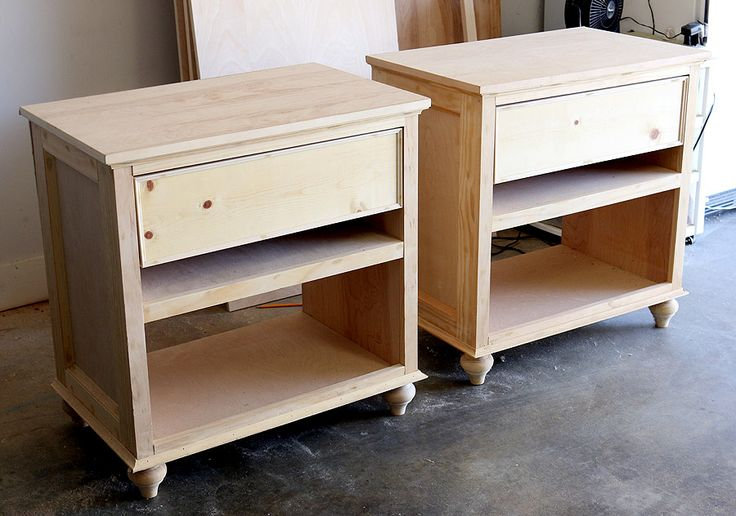 how to build a bedside table video