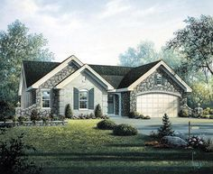 Country Craftsman Ranch House Plan 95800. I really like this plan/ house. -Ann