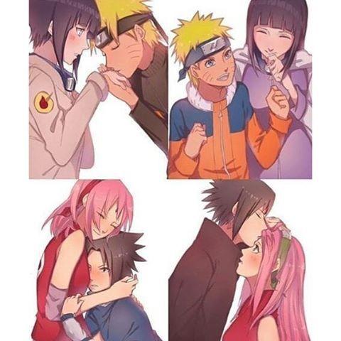 Naruto and Hinata, Sasuke and Sakura