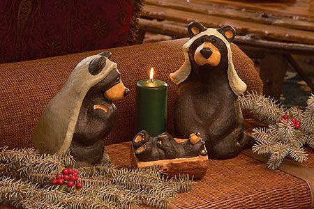 Big Sky Carvers Bearfoots Beartivity Bear Nativity ...