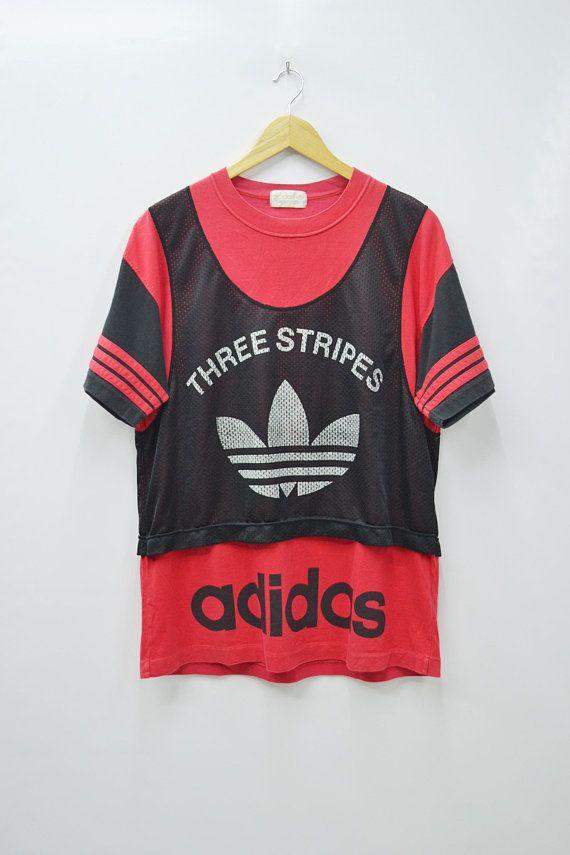 Adidas Big Logo 90's Shirt Size L Vintage 8wPkXnN0OZ