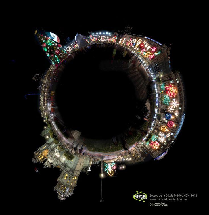 Las lucen en el Zócalo de la Cd. de México. Invierno 2013-2014