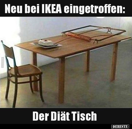 Neu Bei Ikea Eingetroffen Der Diat Tisch Lustige Bilder