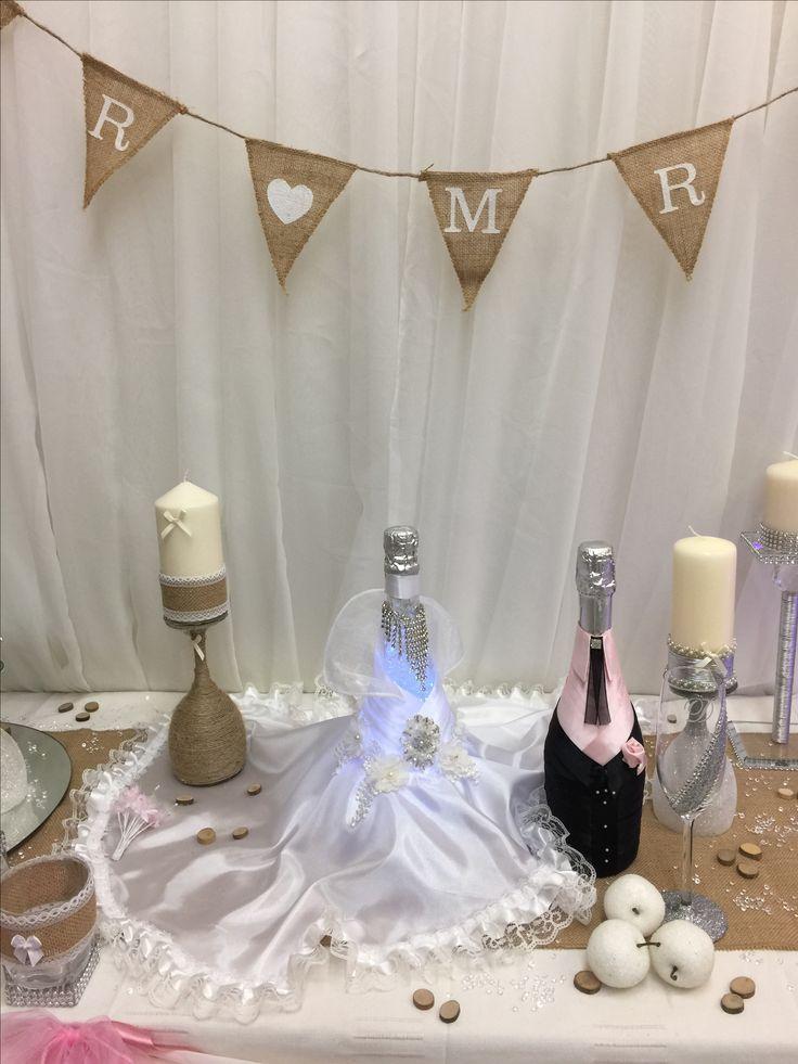 Crystalgellamps wedding centre piece