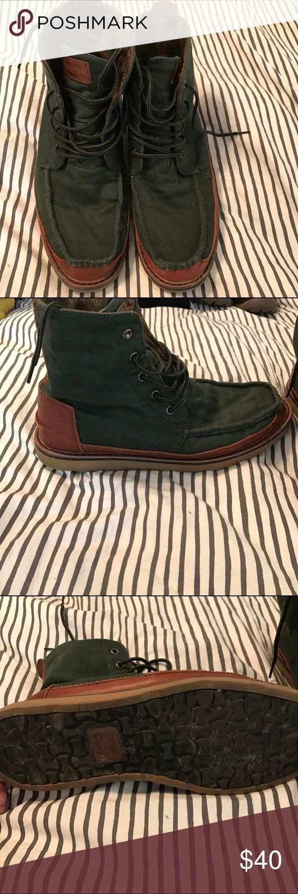 TOMS Boots TOMS men's military style boots. Great condition. TOMS Shoes Boots