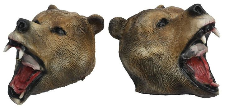 Full Head Grizzly Adams Bear Latex Animal Mask Hand Painted Fancy Dress - Dragons Den Fancy Dress Limited