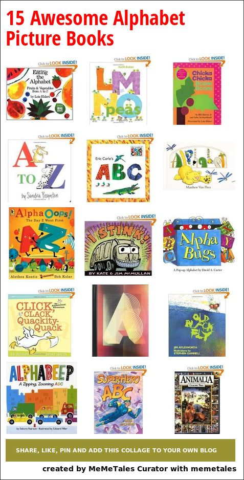 15 Awesome Alphabet Picture Books For Kids - the silly, funny, artistic, retro, popups and more