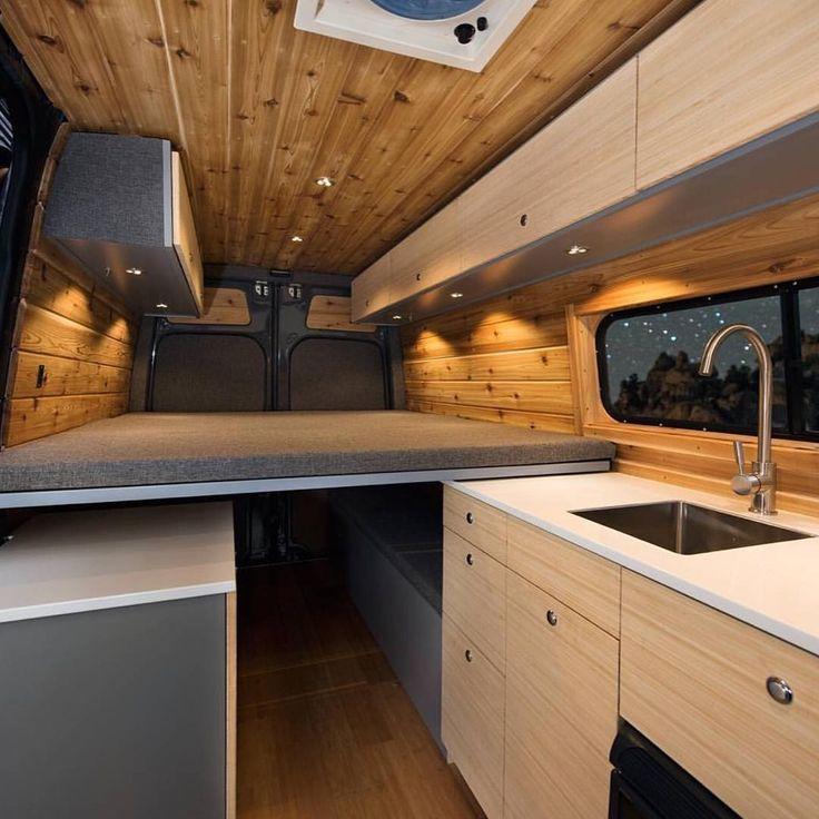 386 best vans images on pinterest caravan campers and vans for Van interior designs