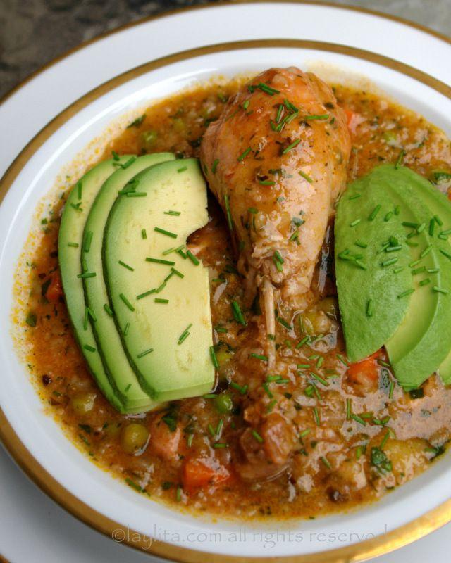 Aguado de gallina soup