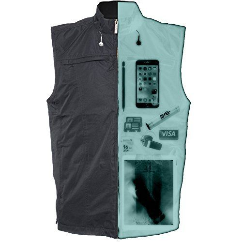 AyeGear V26 Vest with 26 Pockets, Dual Pockets for iPad or Tablets, Earphone Routing System, Weatherproof, Concealed Carry Clothing, No Bulge, Lightweight Gilet AyeGear® V26  The NEW AyeGear® V26 is a must-have travel vest that is a mandatory addition to any shopping cart. Packed with 26 concealed pockets, in all shapes and sizes with comfort at the core of the garment – with or without pockets loaded. Rugged, durable, weight balanced, wrinkle-free and extremely vers