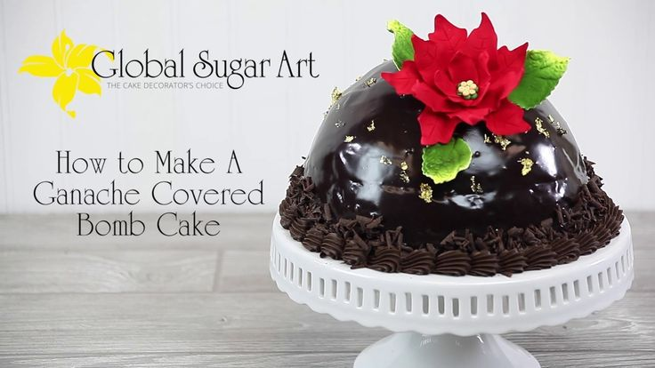 How To Make A Chocolate Bombe Cake by Chef Alan at Global Sugar Art
