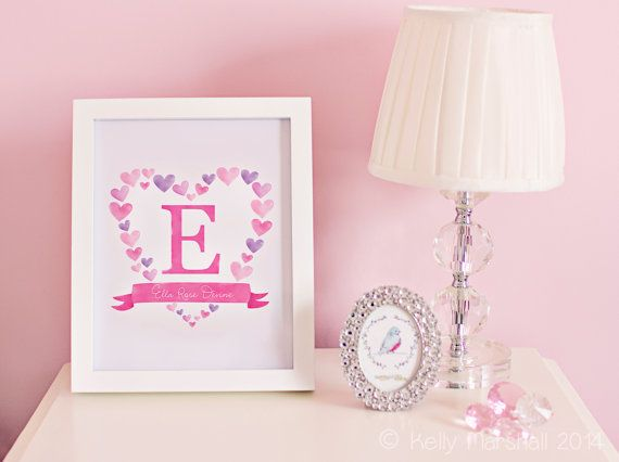 7 best sweet cheeks custom name art images on pinterest sweet personalized name print custom name sign monogrammed gifts girl name wall decal nursery monogram letters sweet cheeks images negle Image collections
