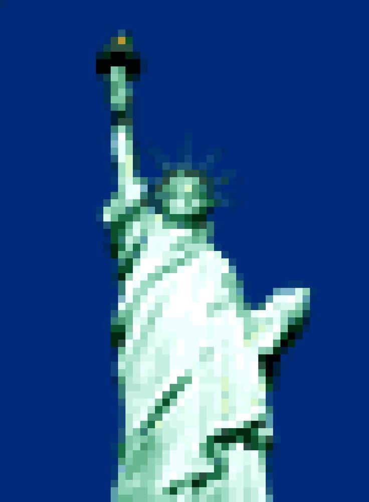 The Statue Of Liberty New York Us 8 Bit Image 8 Bit Design Statue Of Liberty