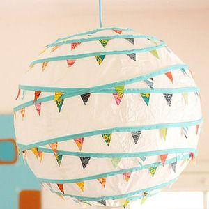 Cómo hacer lámparas de papel para dormitorios infantiles - Manualidades para niños - Charhadas.com