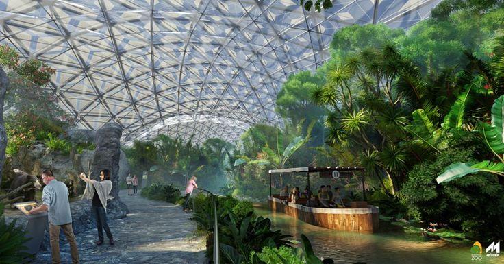 Várhatóan 2019-re készül el a Biodóm nevű fedett látogatóközpont, ahol évszaktól függetlenül sem az elefántok, sem a látogatók nem fáznak majd.
