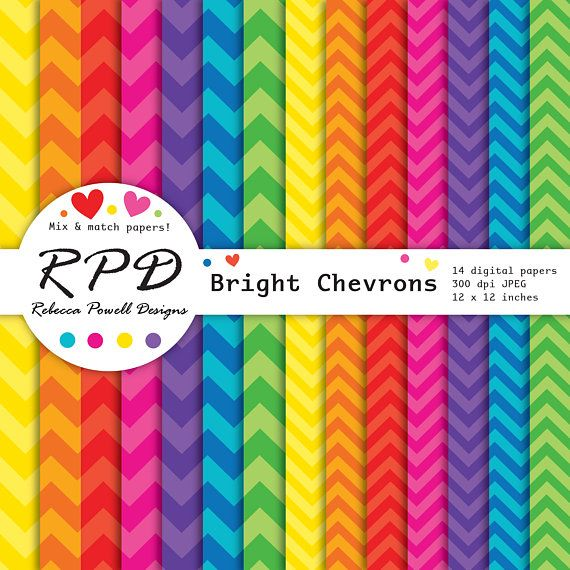 Set of 14 vibrant rainbow colours digital papers with a chevrons pattern. Available for instant download from Etsy & Teachers Pay Teachers #etsy #etsyshop #stripes #jpeg #scrapbookpages #crafts #rainbow #papers #digitalpaperset #scrapbooking #digitaldownload #rainbowstripes #digitalbackgrounds #resources #etsyseller #craftsupplies #bright #pattern #teacherspayteachers #instantdownload #papercraft #commercialuse #chevronstripe #chevrons #zigzag