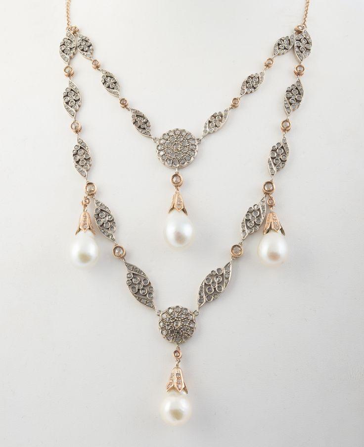 Fecarotta Antichità, argento oro diamanti e perle #unique #jewellery #style #jewelry #pearl #Antique #coral #summer #exhibition #diamonds #artandcrafts #shoppinginsicily #visitsicily