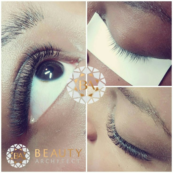 Short and tricky lashes. Added at bit lenght and a lot Volume ❤ www.beautyarchitect.dk