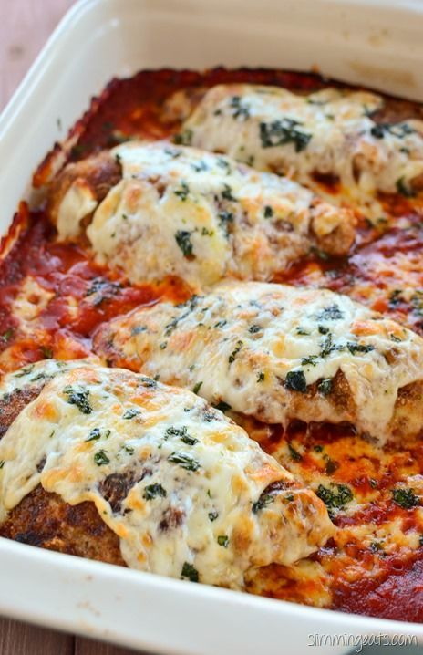 Slimming Eats Chicken Parmesan - Slimming World (SP) and Weight Watchers friendly