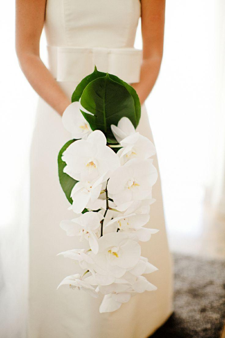 Bouquet de la mariee mariage zen Bouquet cascade avec orchidée
