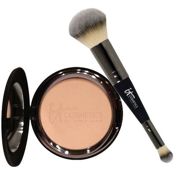 It Cosmetics Celebration Foundation Set, Medium Beige 1 ea ($50) ❤ liked on Polyvore featuring beauty products, makeup, face makeup, foundation, beauty, fillers, cosmetics, faces, powder foundation y it cosmetics
