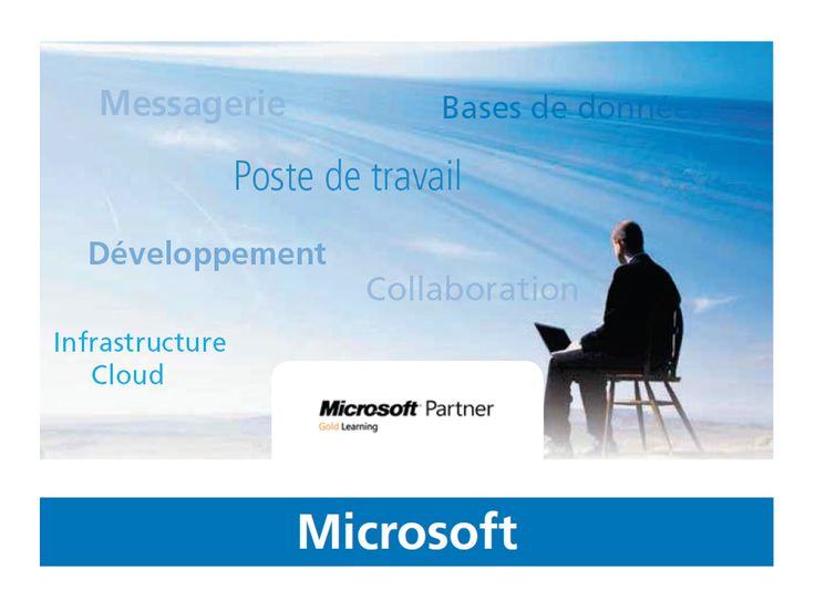 Formation Microsoft : systèmes/serveurs, virtualisation et cloud privé, sécurité, messagerie et communications unifiées, base de données et business intelligence, poste client collaboratif, développement d'applications, guide Microsoft Sharepoint