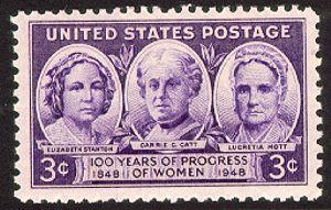 US Stamp Gallery >> Elizabeth Stanton, Carrie Chapman Catt, & Lucretia Mott