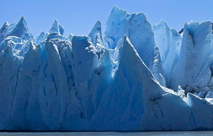 Grey glacier impresive ice  wall