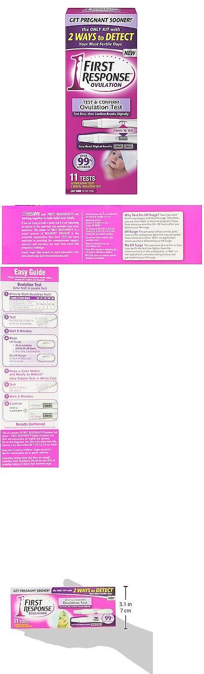 Pregnancy Tests: First Response Test And Confirm Ovulation Test Kit - 11 Count -> BUY IT NOW ONLY: $43.0 on eBay!