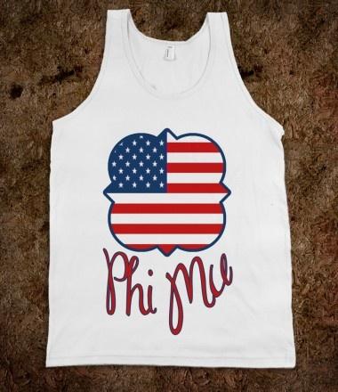 Phi Mu USA Tank