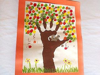 hand and finger print tree