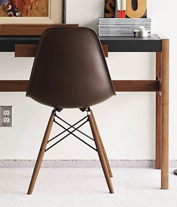 1000 images about his hers office on pinterest high for Eames molded plastic dowel leg side chair