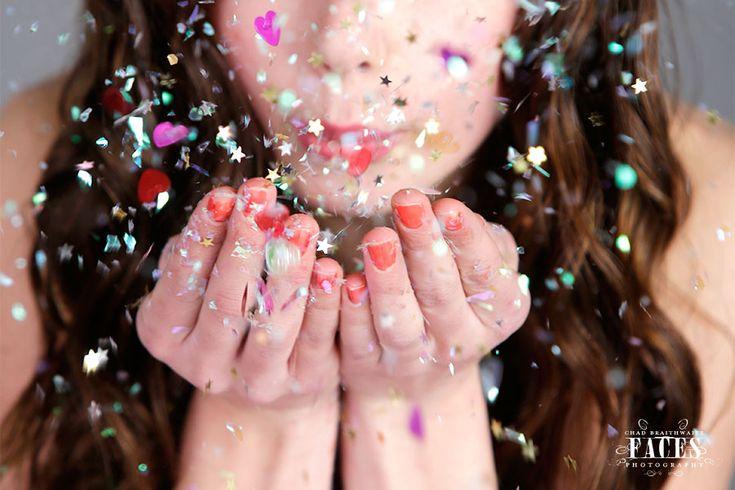 Every Girl Should do a Glitter Photo Shoot